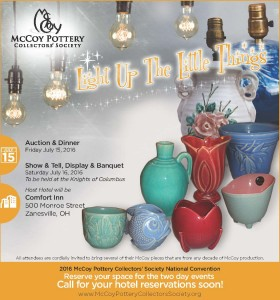 2016 McCoy Pottery Collectors' Society National Convention Ad - Copy