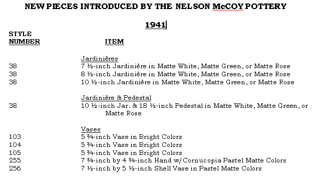 The Nelson McCoy Pottery Production During the World War II