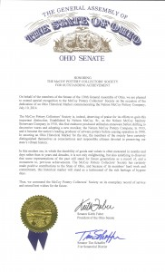 Ohio Senate Award