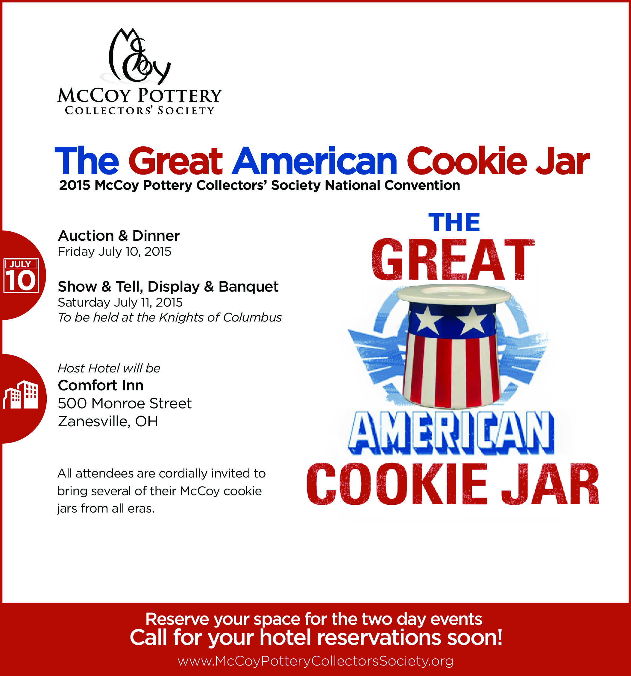 2015 McCoy Pottery Collectors' Society National Convention Ad